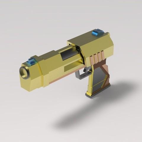 untitled.21.jpg Download STL file Gun for a cosplay • 3D printer model, URkA