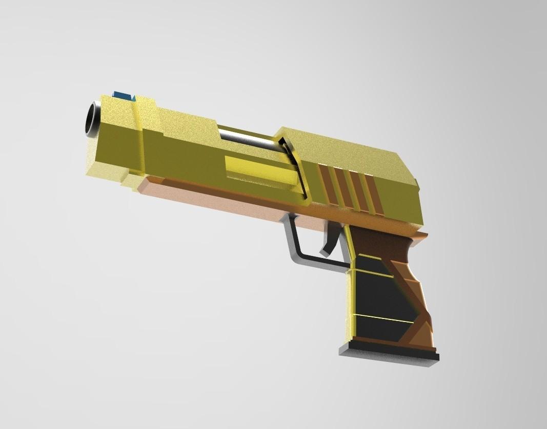 untitled.19.jpg Download STL file Gun for a cosplay • 3D printer model, URkA