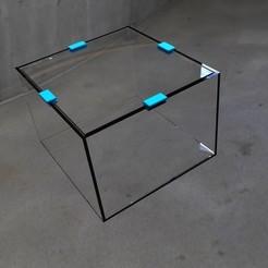 archivos stl Soporte de cristal integumentario de un acuario., URkA