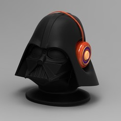 untitled.7.jpg Download STL file Headphone holder.Darth Vader. • Object to 3D print, URkA