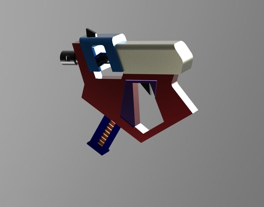 Pistol4.25.jpg Download STL file Gun for a cosplay • 3D printer model, URkA
