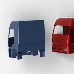 Download 3D printing files cabin of the truck, URkA