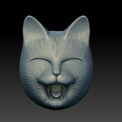 00.jpg Télécharger fichier STL Masque HAPPY CAT • Design imprimable en 3D, El_Chinchimoye