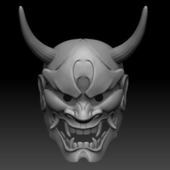 00.jpg Download STL file Oni Mask • 3D printing model, El_Chinchimoye