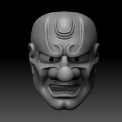 00.jpg Download STL file TENGU MASK • Object to 3D print, El_Chinchimoye