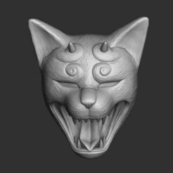 06.jpg Télécharger fichier STL ONI CAT MASK • Plan imprimable en 3D, El_Chinchimoye