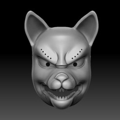 00.jpg Download STL file kitsune mask • 3D printer template, El_Chinchimoye