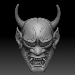04.jpg Download STL file Oni Mask • 3D printing model, El_Chinchimoye