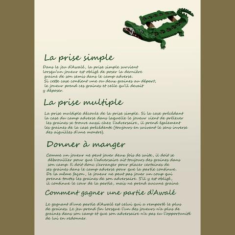 page 2.jpg Download free STL file Awalé crocodile • 3D printable template, micaldez