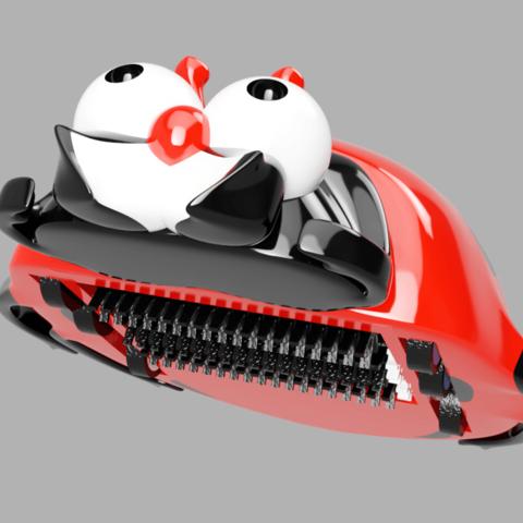ramasse miettes dessous.png Télécharger fichier STL coccinelle ramasse miettes • Plan pour impression 3D, micaldez
