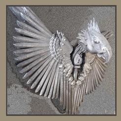 aigle1.jpg Download STL file wall eagle • Template to 3D print, micaldez