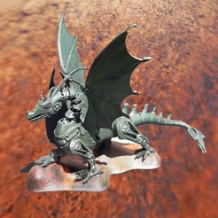 dragon 2.jpg Download STL file meca dragon • 3D printable template, micaldez