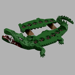 Download free 3D printer templates Awalé crocodile, micaldez