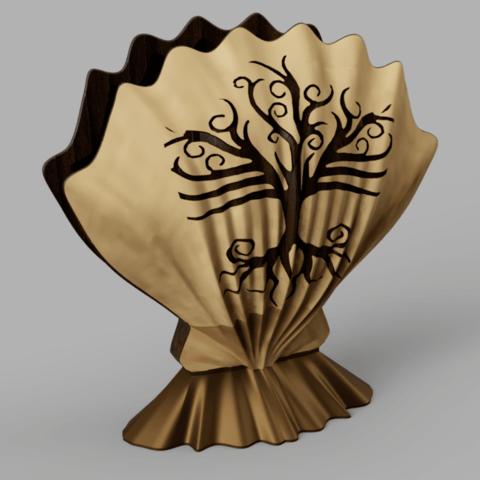 coquille.png Download free STL file towel holder shell • 3D printable template, micaldez