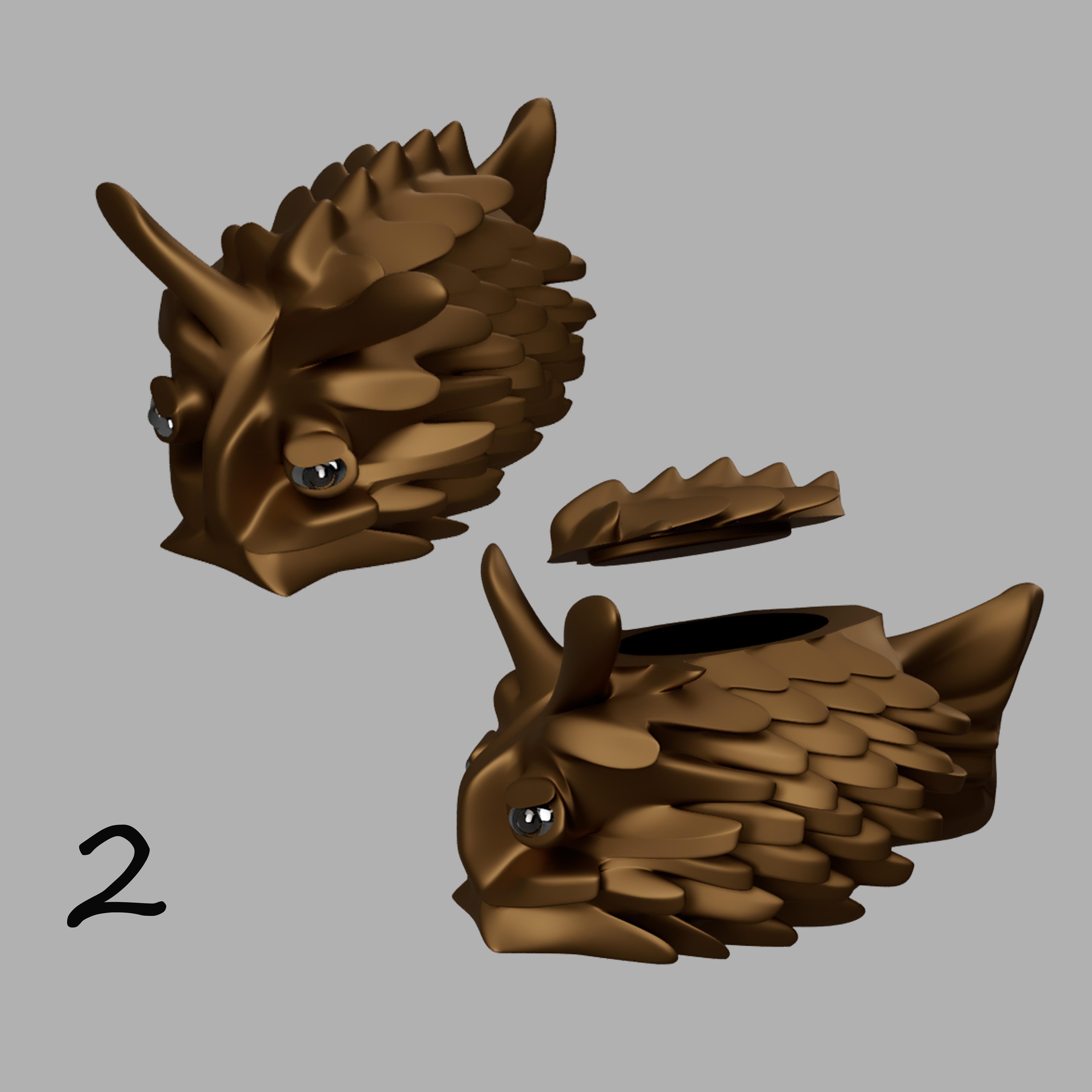 poisson coffre à bijoux 2.jpg Télécharger fichier STL gratuit poisson-coffre à bijoux • Modèle pour imprimante 3D, micaldez