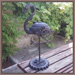 Download 3D printer model mechanical flamingo, micaldez