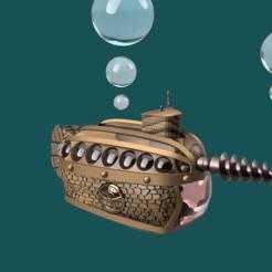 3D printer files vintage submarine, micaldez