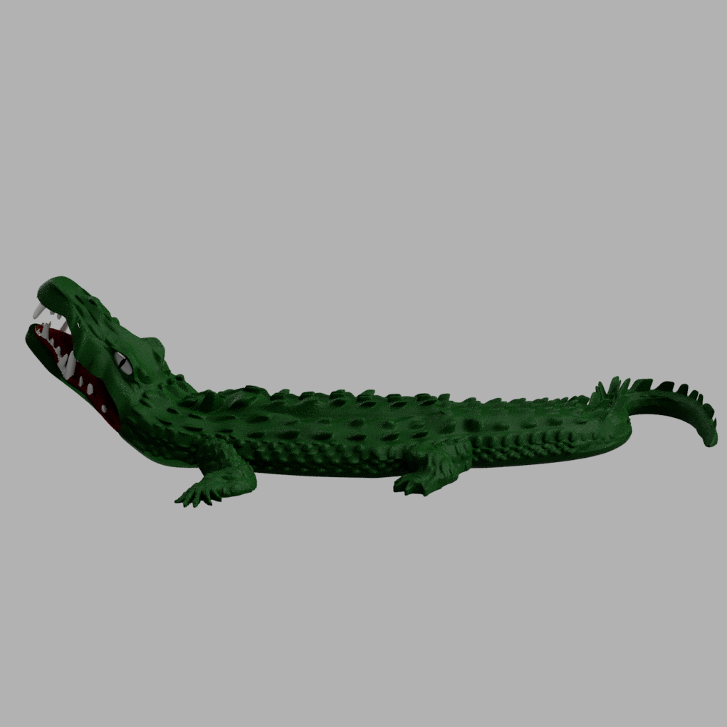 awalé croco 6.PNG Download free STL file Awalé crocodile • 3D printable template, micaldez