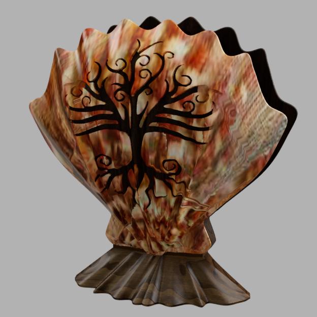 coquille 2.png Download free STL file towel holder shell • 3D printable template, micaldez