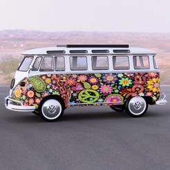 flower pow 2.png Download STL file Volkswagen Combi • Object to 3D print, micaldez