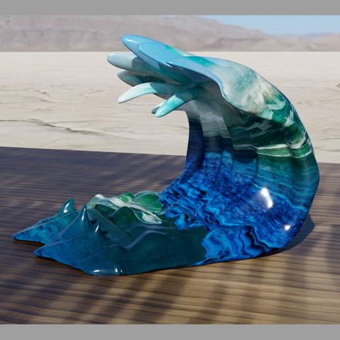 vague support tel 4.png Télécharger fichier STL gratuit support vague • Design pour imprimante 3D, micaldez