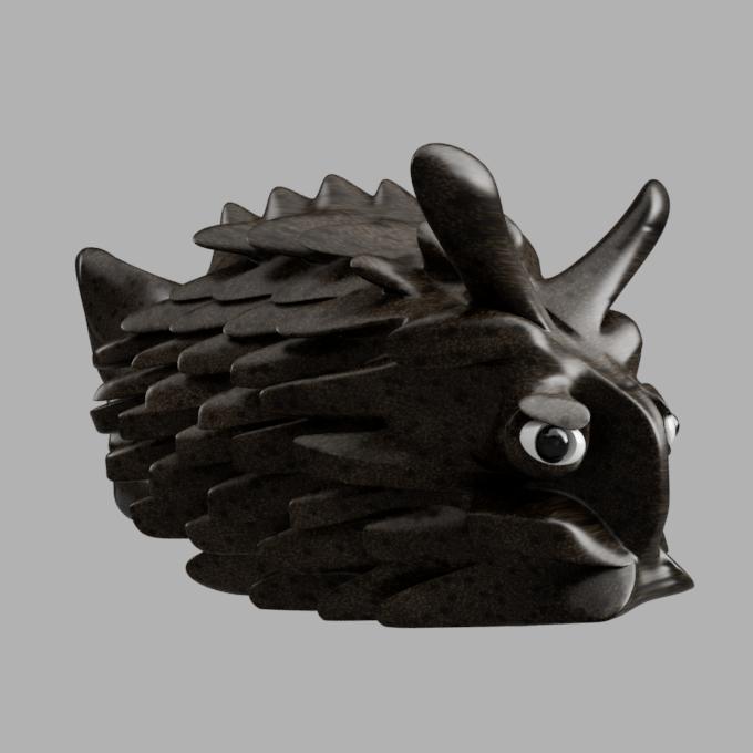 poiss cof profil.png Télécharger fichier STL gratuit poisson-coffre à bijoux • Modèle pour imprimante 3D, micaldez