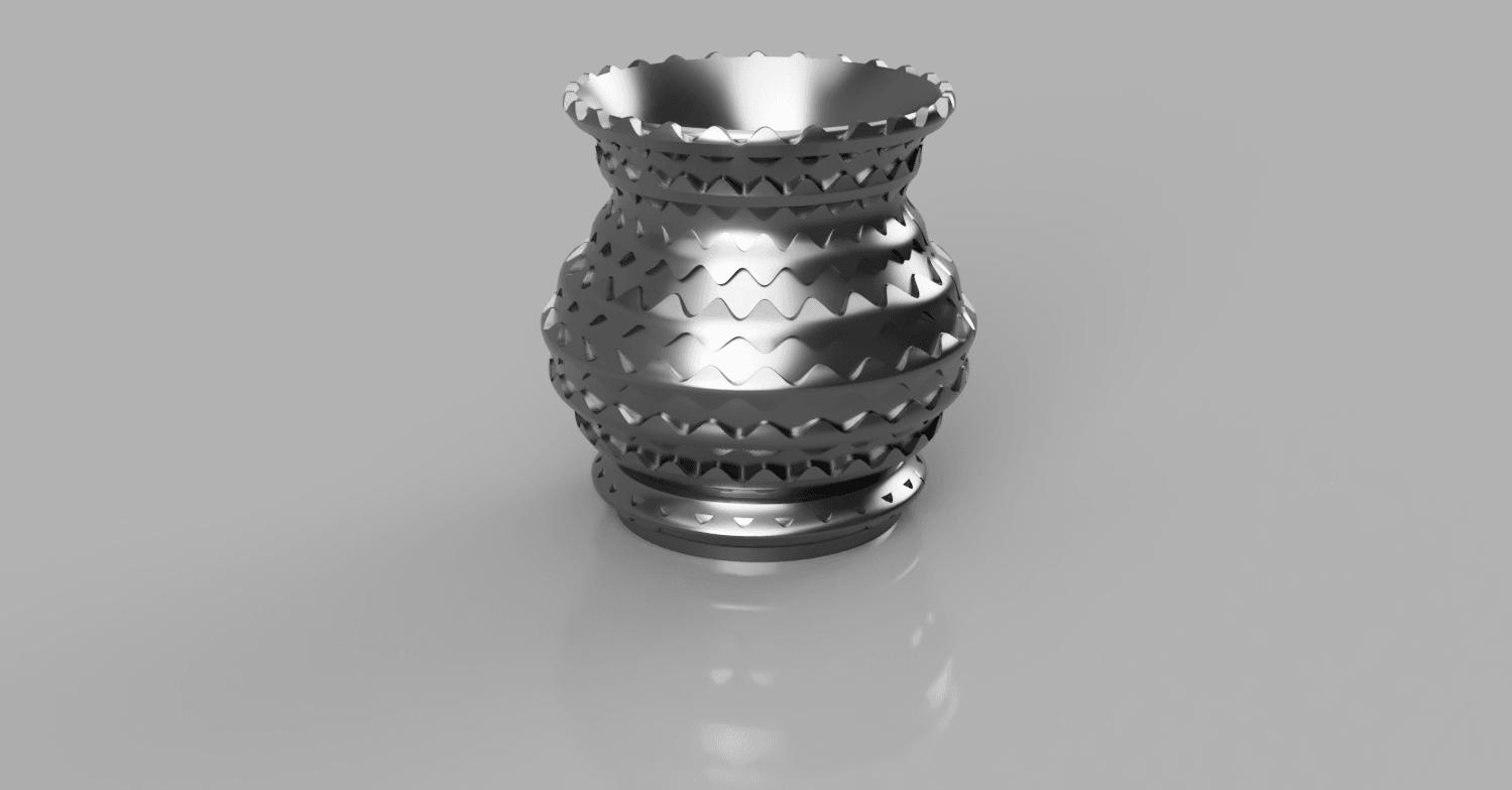 vase_ecailles 5.png Télécharger fichier STL gratuit vase écaille • Design pour imprimante 3D, micaldez