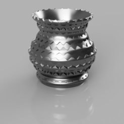 Free 3D printer model flake vase, micaldez