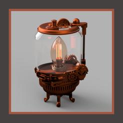 Download 3D model steampunk lamp, micaldez