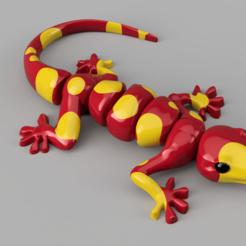 Descargar modelos 3D para imprimir salamandra articulada, micaldez