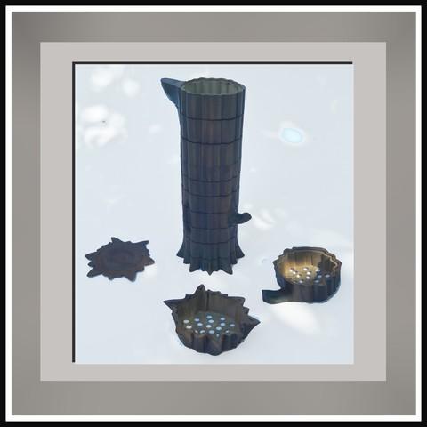 pieces4.jpg Télécharger fichier STL gratuit Arbre à pluie • Objet imprimable en 3D, micaldez