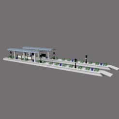 quais 1.png Download STL file HO station platforms • Design to 3D print, micaldez
