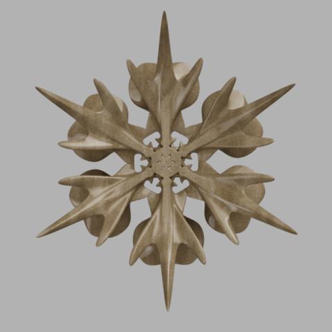 corbeille_flocon 3.png Télécharger fichier STL gratuit corbeille flocon de neige • Modèle à imprimer en 3D, micaldez