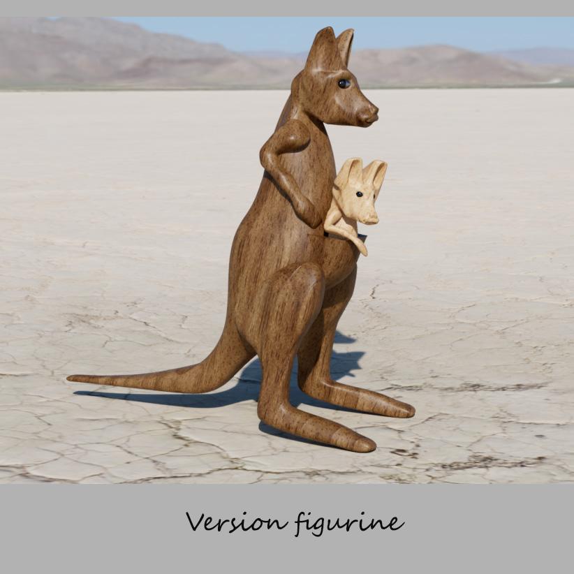 kangourous 2.jpg Télécharger fichier STL gratuit kangourou • Plan à imprimer en 3D, micaldez