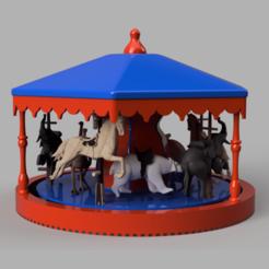 manege.png Download STL file Manege carousel • 3D printable model, micaldez