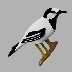 Download 3D printing templates wagtail guardian, micaldez