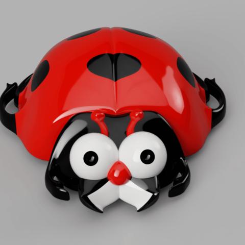 ramasse_mietes face.png Télécharger fichier STL coccinelle ramasse miettes • Plan pour impression 3D, micaldez
