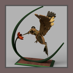mecalibri suspendu.PNG Download STL file mech hummingbird • Object to 3D print, micaldez