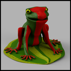 Descargar Modelos 3D para imprimir gratis Rana, micaldez
