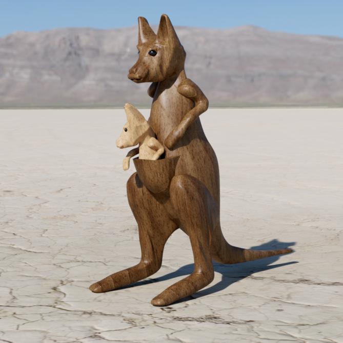kangourou3.png Télécharger fichier STL gratuit kangourou • Plan à imprimer en 3D, micaldez