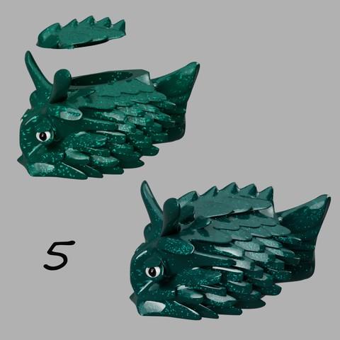 poisson coffre à bijoux 5.jpg Télécharger fichier STL gratuit poisson-coffre à bijoux • Modèle pour imprimante 3D, micaldez