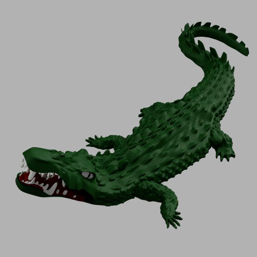 awalé croco 3.PNG Download free STL file Awalé crocodile • 3D printable template, micaldez