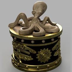 boite pieuvre 2.PNG Télécharger fichier STL boite octopussy • Objet pour impression 3D, micaldez