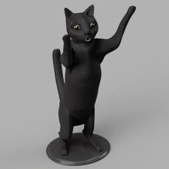 Descargar modelos 3D gato de pie, micaldez
