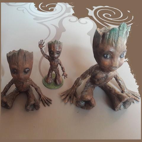 Free STL Baby Groot, micaldez