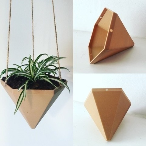 Free 3D print files Hexagonal Based Pyramid Hanging Planter, ranibizumab
