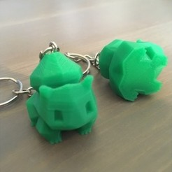 Free STL files Low Poly Bulbasaur Keyring REMIX - suitable for small prints, ranibizumab