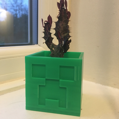 Free STL Minecraft Creeper Planter / Pot, ranibizumab