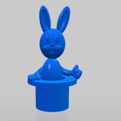 LAPIN CHAPEAU MAGIQUE.png Download free STL file RABBIT MAGIC HAT • Template to 3D print, DL3D-MAKER