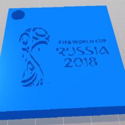 STL gratuit KEY RING FIFA 2018 (PORTE-CLEF FIFA 2018) , DL3D-MAKER